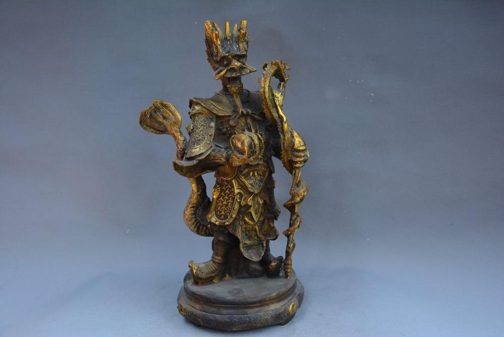 Statue en laiton de la dynastie Qing, roi Dragon, livraison gratuite