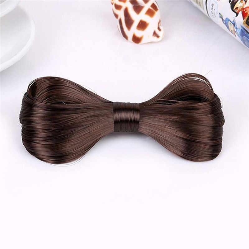 PINKSEE новый современный Стиль парик Hiarpin для Для женщин красный/черный/Кофе/золотой/коричневый бантом ежедневно аксессуары ювелирные изделия