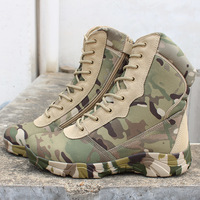 Tactical Men Women Army Fans Outdoor Climbing Hiking Shoes U.S. Camouflage Wearproof Desert Camping Non slip Training Boots