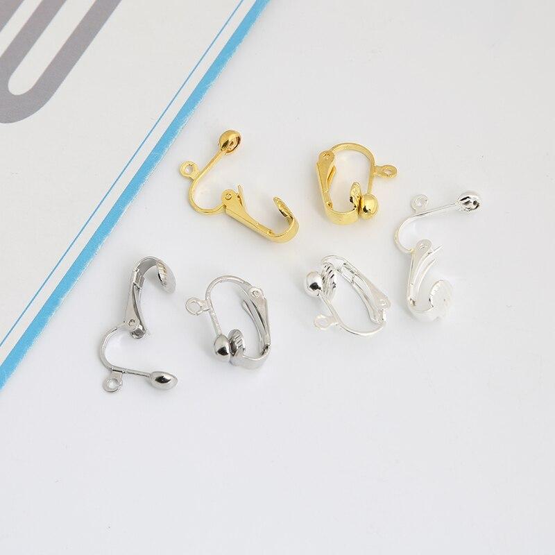 20 peças clipe-on brinco conversor achados de brincos para sem orelhas piercing, brinco que faz acessórios ouro e prata banhados