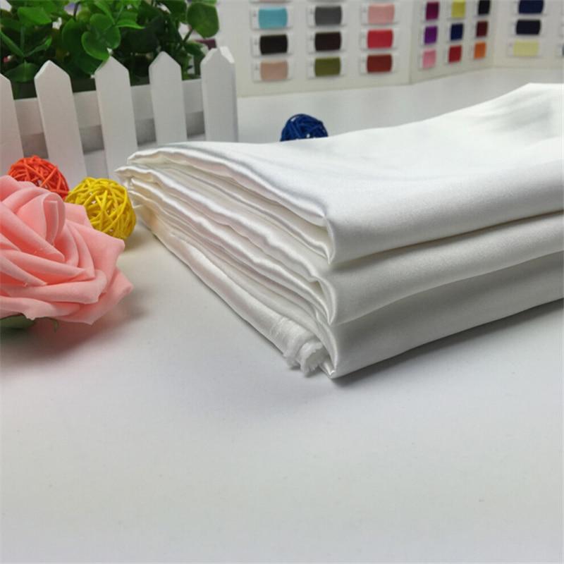 2018 výprodej nejnovější design nejvyšší kvality bílé barvy 100% polyester bridal Satin Fabric