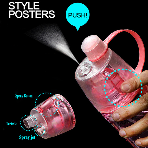 Newest Design Plastic Sports Spray Water Bottle Straw For Outdoor Bicycle Cycling Sports Gym Drinking Bottles KC1323 Islamabad