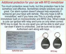 Secret Switch Passive Starter Kill Immobilizer 125Khz frequency RFID one way car alarm immobilizer anti-theft system