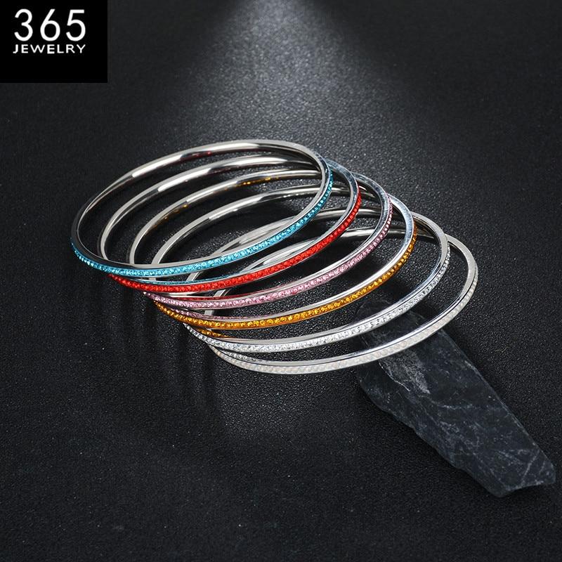 Új márka színes karkötő nők számára, szép rozsdamentes acél - Divatékszer