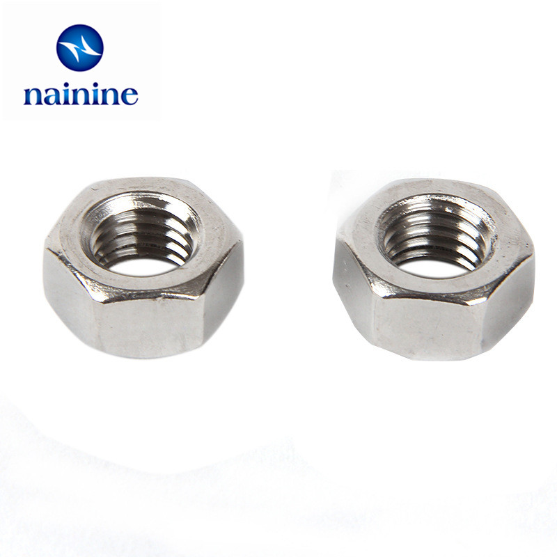 100pcs din934 m1 6 m2 m2 5 m3 m4 carbon steel hex nut hexagon nuts hw010