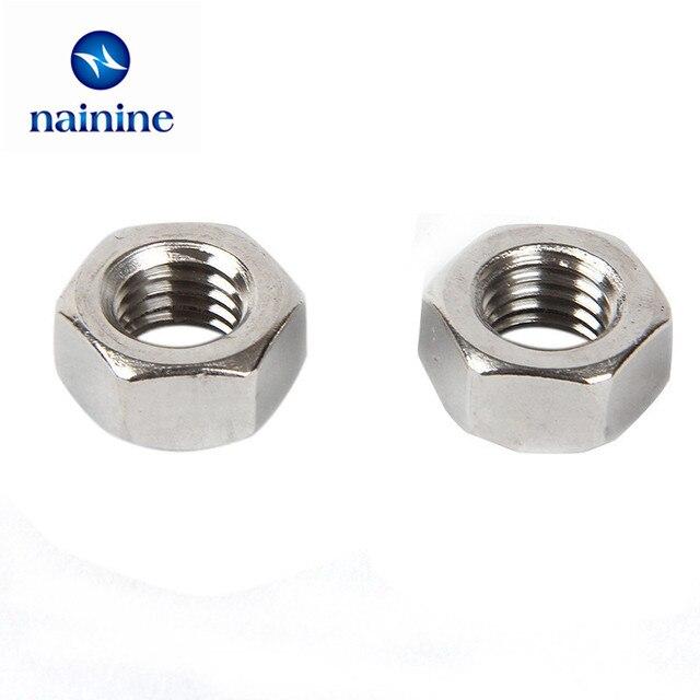 100Pcs DIN934 M1.6 M2 M2.5 M3 M4 Carbon Steel Hex Nut Hexagon Nuts Metric Thread Suit For Screws Bolts HW010