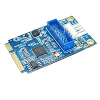 MINI PCI E To USB 3 0 Front 19 Pin Desktop PC Expansion Card With 4