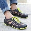 2016 Летние Мужские Сандалии Дышащая Обувь Повседневная Мужская Обувь Пляжные Сандалии Спортивные Рыболовные Обувь Zapatos Masculino