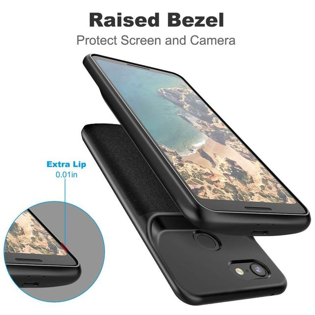 huge discount f7ad5 1234b US $34.79 40% OFF|NEWDERY 4700mAh for Pixel Slim Extended Charging Case for  Pixel 3 XL protective portable power bank battery case for Pixel 3 -in ...