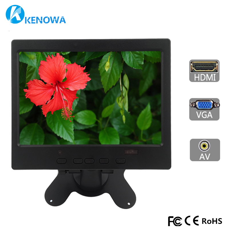 8 Inch Small LCD HD Bus Video Monitor Screen 1024x768 VGA BNC AV HDMI Ypbpr Input for PC CCTV Car Home Security 10 1 inch 4 3 lcd hd digital screen car monitor 2 video inputs av input stand alone monitor with vga hdmi av usb bnc tv sh10198