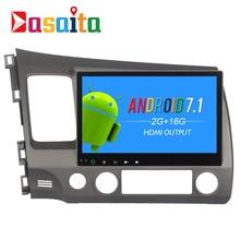 Dasaita 10.2 «Android 7.1 автомобиль GPS плеер Navi для Honda Civic 2006-2011 с 2 г + 16 г 4 ядра стерео Мультимедиа HDMI no dvd