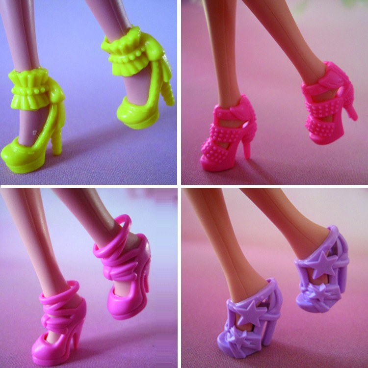 New Handmade For Barbie Dress For Barbie Shoes For Barbie Gown Three Piece Set