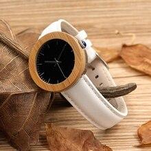 BOBO BIRD J03 Waterproof Wood Watch for Women Bamboo Wooden Watches Fashion Quartz Wristwatches Soft Leather