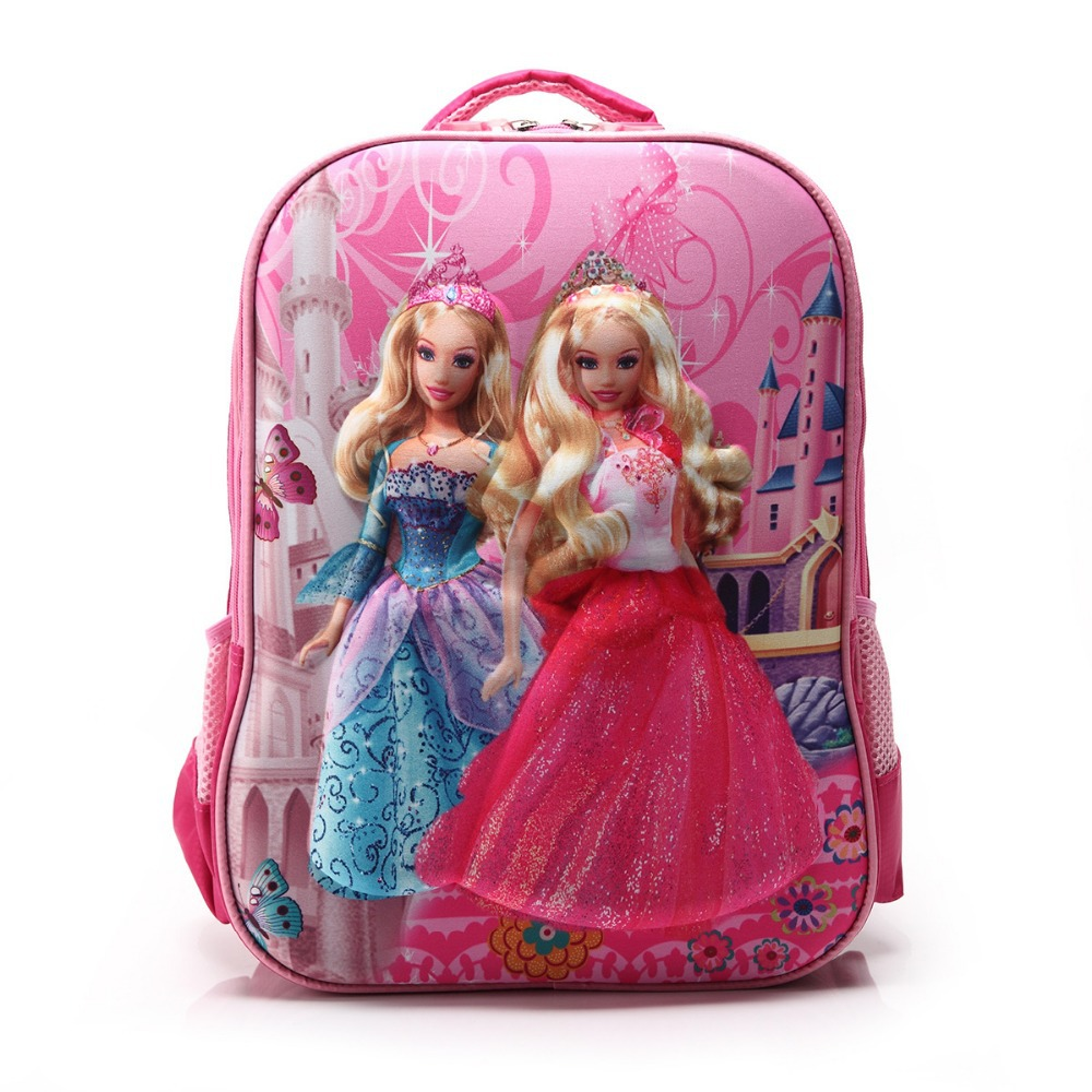 child kindergarten cartoon the barbie doll 3d mochila infantil