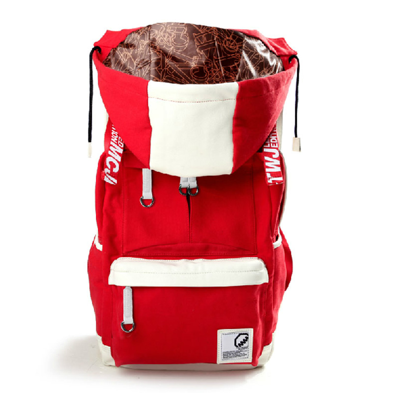 2014 new 13 colors fashion trend student s backpack with cap design japan style asian famous