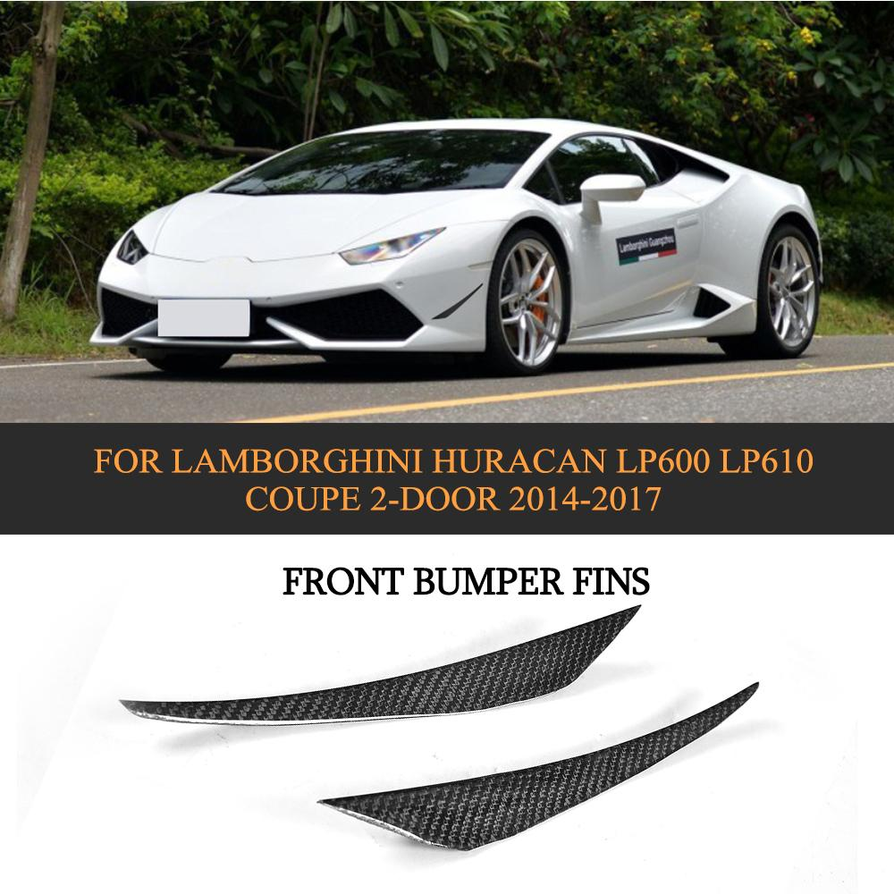 In Quality Lower Price with Front Bumper Splitter Apron Carbon Fiber Case For Lamborghini Huracan Lp600 Lp610 Coupe 2014 2015 2016 2017 D Style Car Styling Excellent