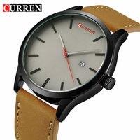 Curren Watches Men Leather Waterproof Clock Mens Watches Top Brand Luxury Quartz Watch Male Casual Sport