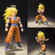 ThinkEasy shfy Dragon Ball Super Saiyan 3 SUN GOKU Gogeta PVC Action Figure Toy Dragon Ball z figure colosseum