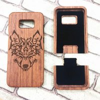 New Wolf Wood Cell Phone Cases For Samsung Galaxy S8 Plus Case Back Cover Wood Wolf