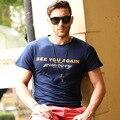 2016 Ocasional do Verão T-shirt dos homens Ver Você Novamente Letras Impressão Paul Walker Fast & Furious 7 O-pescoço T-shirt de Manga Curta J6018