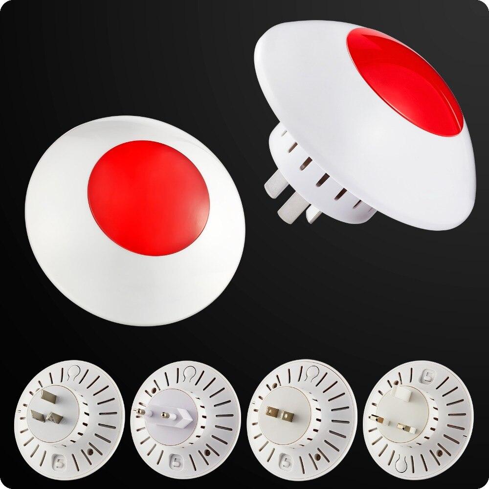 433 MHz Wireless Flash Sirena di Allarme Sirena Corno Rosso Luce Stroboscopica Sirena Per Il Sistema di Allarme Domestico di Sicurezza kit