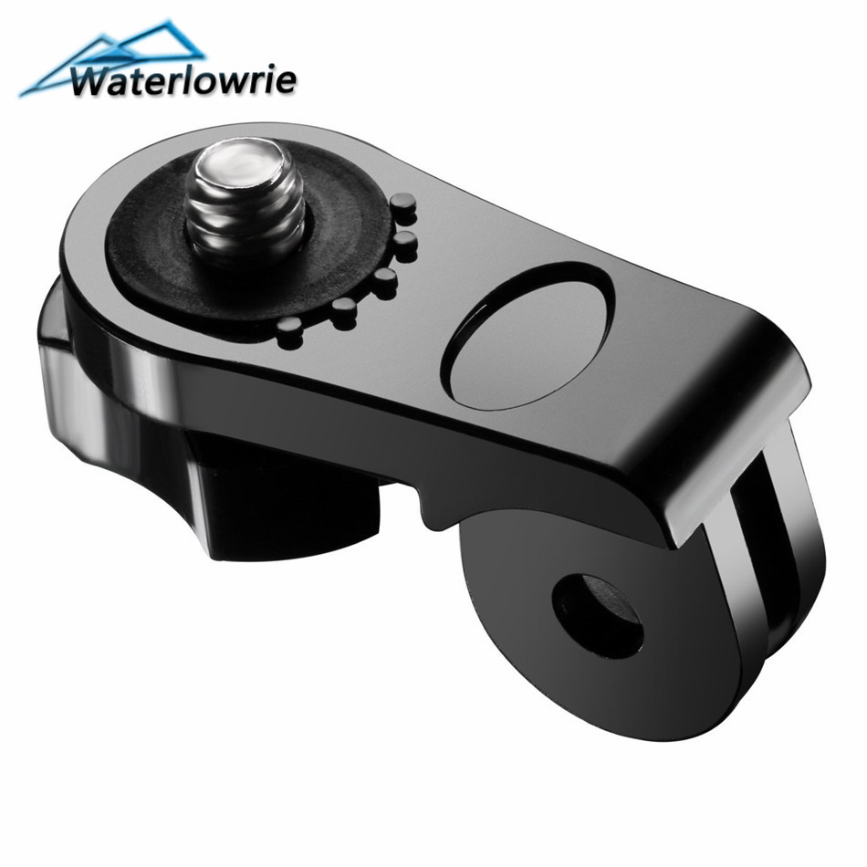 Waterlowrie 1/4 Screw Tripod Mount Adapter Converter Accessories For Xiaomi YI Sony Action Cam to Gopro Camera AS20 AS30V AS100V
