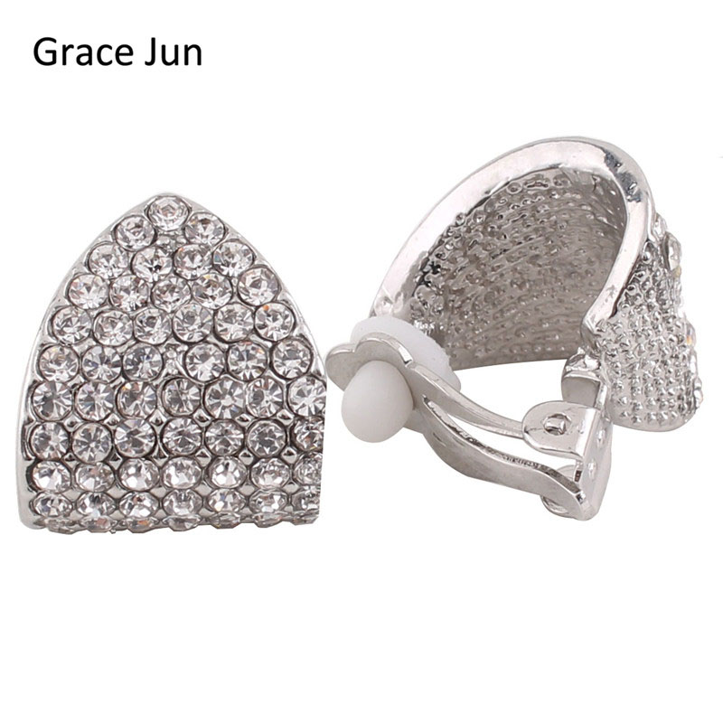 2 Farbe Für Wählen Vintage Braut Ohrringe Strass Clip Auf Ohrringe Für Womem Party Hochzeit Luxus Ohrringe Brauchen Nicht Ohr Loch