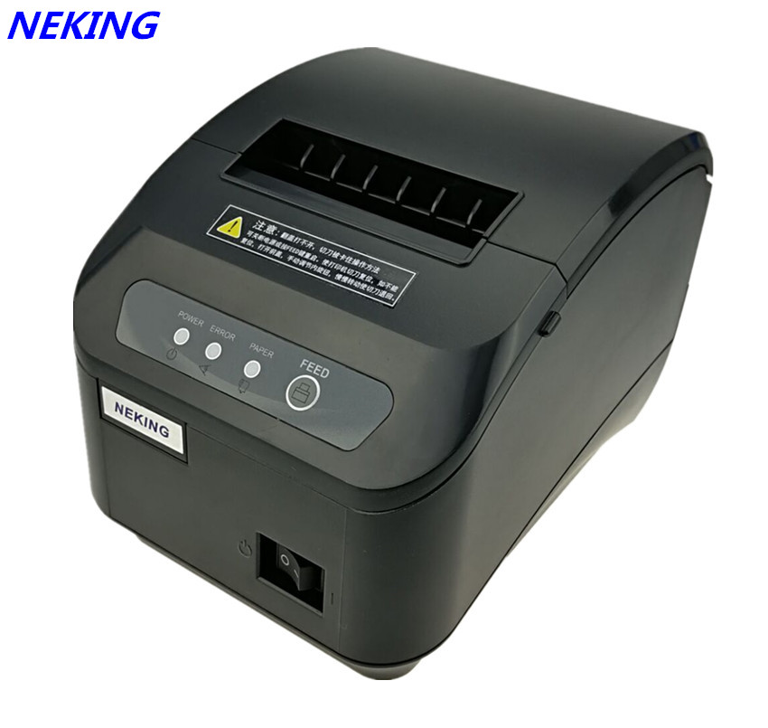 Factory Wholesale pos printer High quality 80mm thermal receipt printer automatic cutting machine printing speed Fast lcod t58zu pos58zu thermal receipt printer bill printing machine black