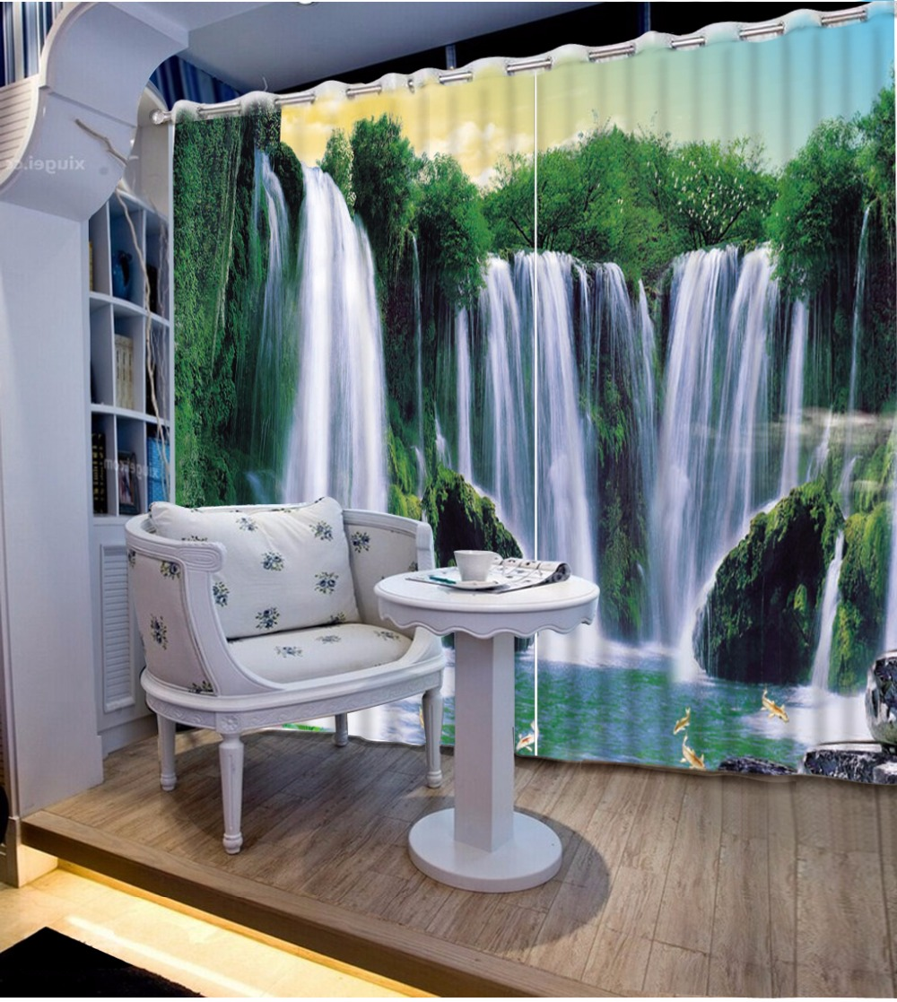 3D Curtain Fashion Customized Waterfall Curtains For Bedroom Custom Any Size 3D Curtain Blackout Curtain Living Room3D Curtain Fashion Customized Waterfall Curtains For Bedroom Custom Any Size 3D Curtain Blackout Curtain Living Room