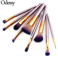 ODESSY Pro 9 Pcs Makeup Brushes High Quality Foundation Powder Eyebrow Eyeliner Blending Brush Eye Face