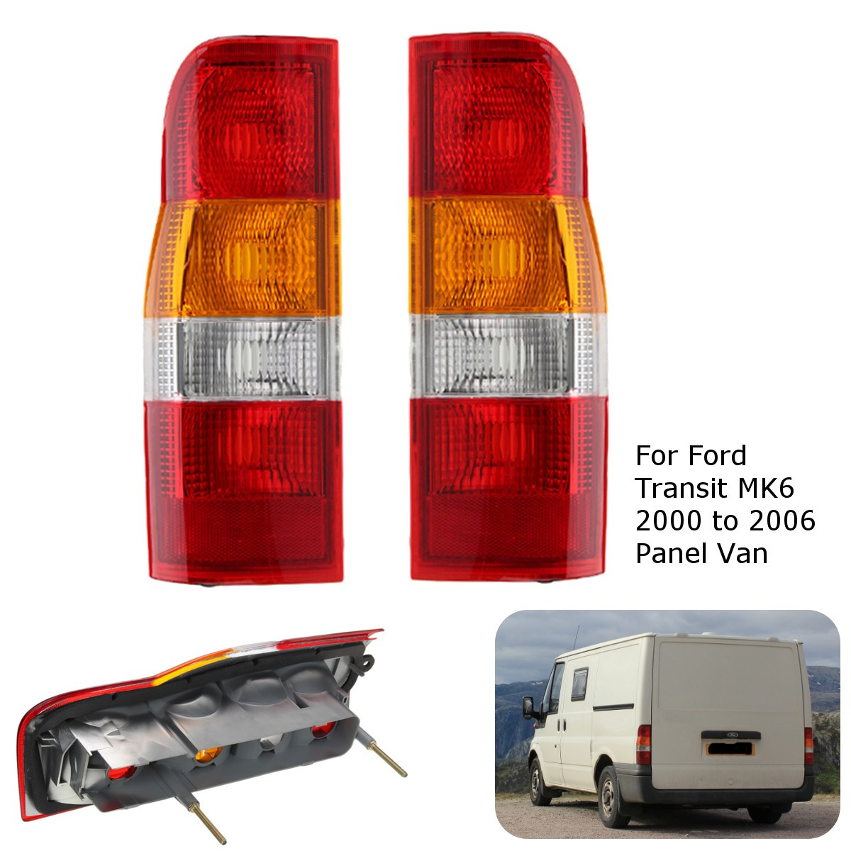 Car Rear Back Tail Light Lamp Lens Right /Left Side For Ford Transit MK6 2000-2006 Panel ...
