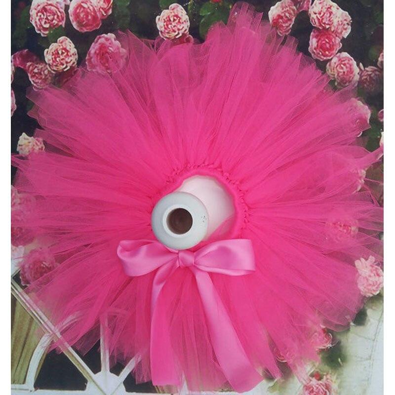 Лидер продаж; фатиновая юбка-пачка для маленьких девочек и повязка на голову с цветами; Комплект для новорожденных; реквизит для фотосессии; подарок на день рождения; 10 цветов; ZT001 - Цвет: only skirt hot pink