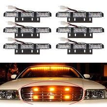 LEDแฟลชฉุกเฉินรถด้านหน้าGrille Deck Strobeไฟวิ่งกลางวันไฟตำรวจคำเตือนกระพริบสัญญาณ12V