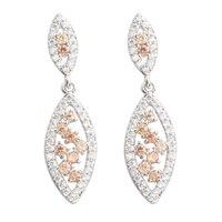 Glamorous Brown Morganite 2 2mm Semi Precious Silver Cool For Womens Stud Earrings ED0235