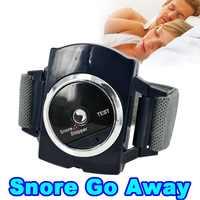Inteligente negro infrarrojo inteligente Anti ronquido pulsera reloj parada cura Solución para dormir puro guardia nocturna ayuda