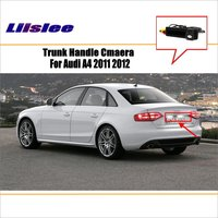 Liislee Car Rear View Camera For Audi A4 2011 2012 / Reverse Camera / HD CCD RCA NTST PAL / Trunk Handle OEM