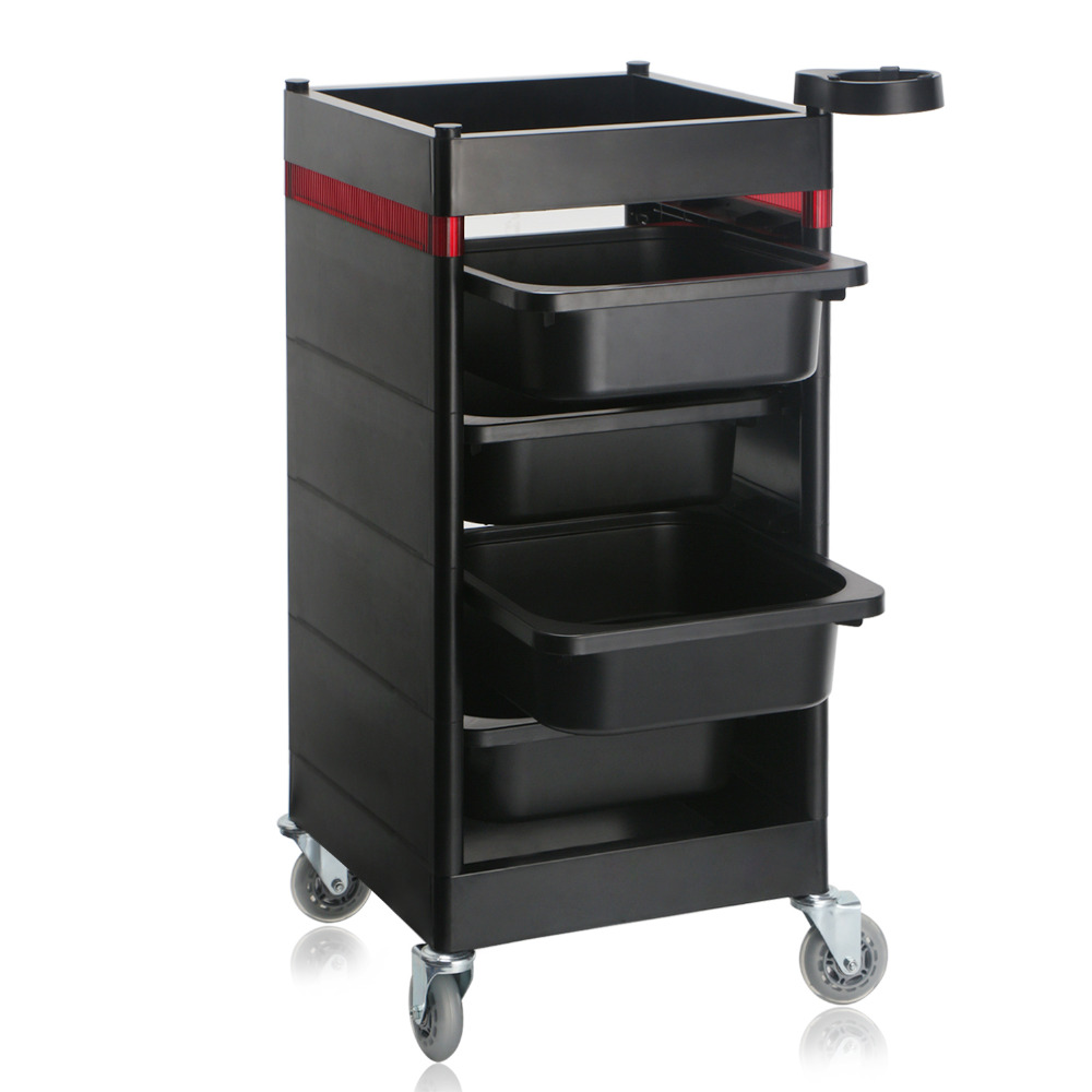 Storage Containers Utility Cart for Beauty Salon Spa Barber Shop, Drawer Organizer Trolley with Casters for Rolling juki mechanical feeder cart storage trolley cart