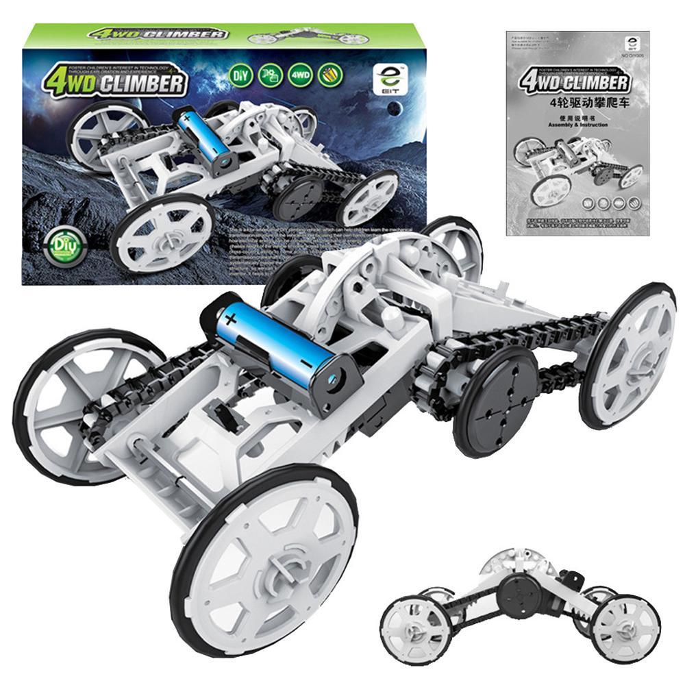 Assembly Kit Four Wheel Drive Toy Car DIY Climbing Vehicle Circuit Building