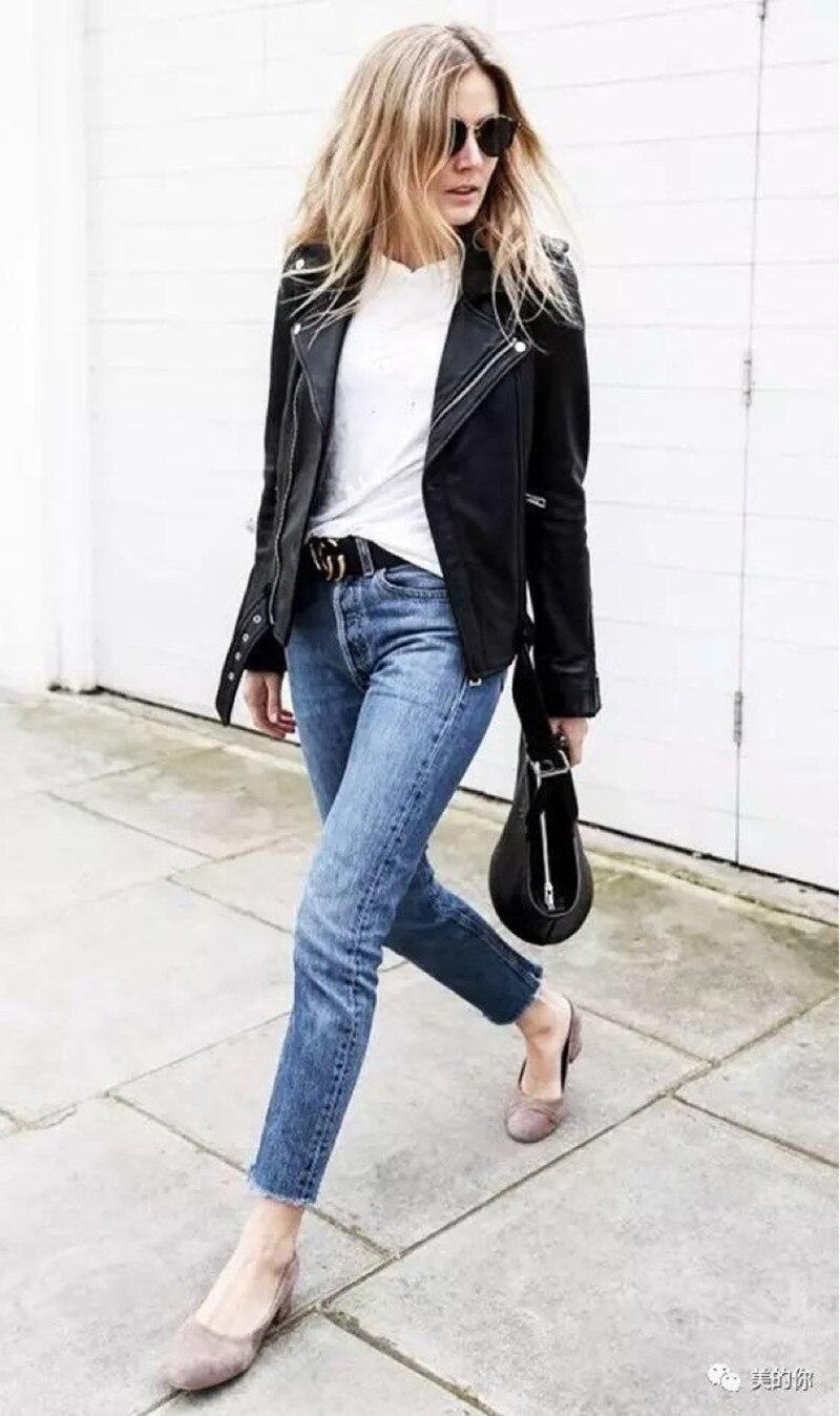 2019 New Women Pencil Jeans Slim Fit Elastic Pants