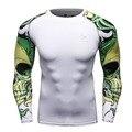 Hombres camisas de compresión mma lycra mantener fit fitness manga larga capa base skin apretado elástico camisetas homme de levantamiento de pesas