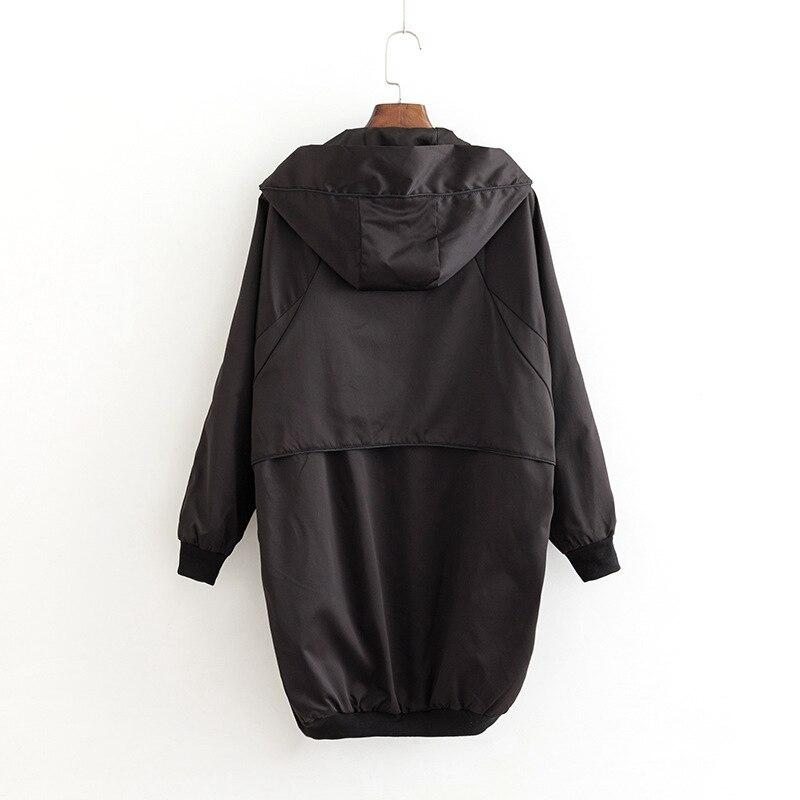 Manteaux Femmes Xxxl Noir Plus Survêtement Manteau Kkfy2893 La À Long Tranchée Pour Casual Lâche Capuchon Taille 4xl 6vnxXW