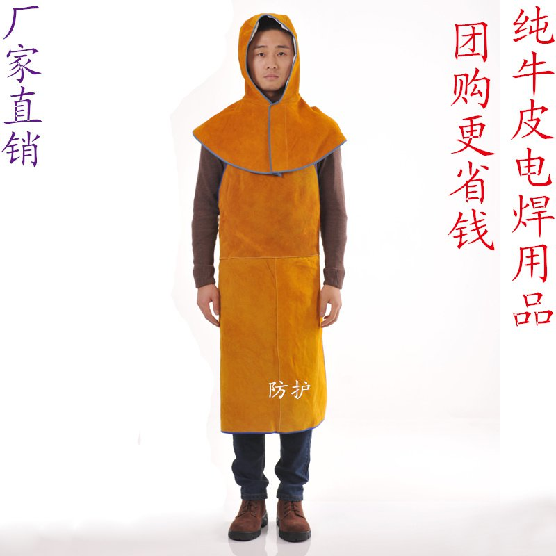 Leather welding aprons wear insulated fire flower splash leather welders welding protective overalls safurance welders dual leather welding