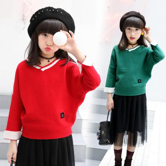 51409be81 Baby Girls Sweaters Winter 2017 Fall Girl Long Sleeve Knitted ...