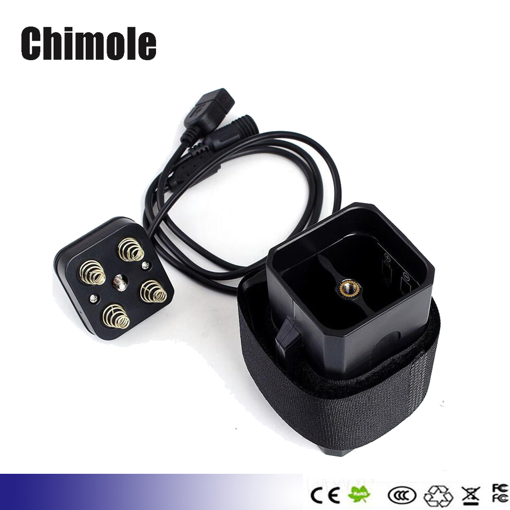 Chimole XP7 Waterproof Battery Box 2.0A USB&8V DC Output 4x18650 Battery Pack Case With Strap For Bicycle light Lamp Smartphone