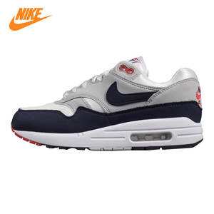 newest 6d063 65c47 Nike AH8145 Air Max 1 Men s Running Shoes 102 Black   Grey Grey   Blue
