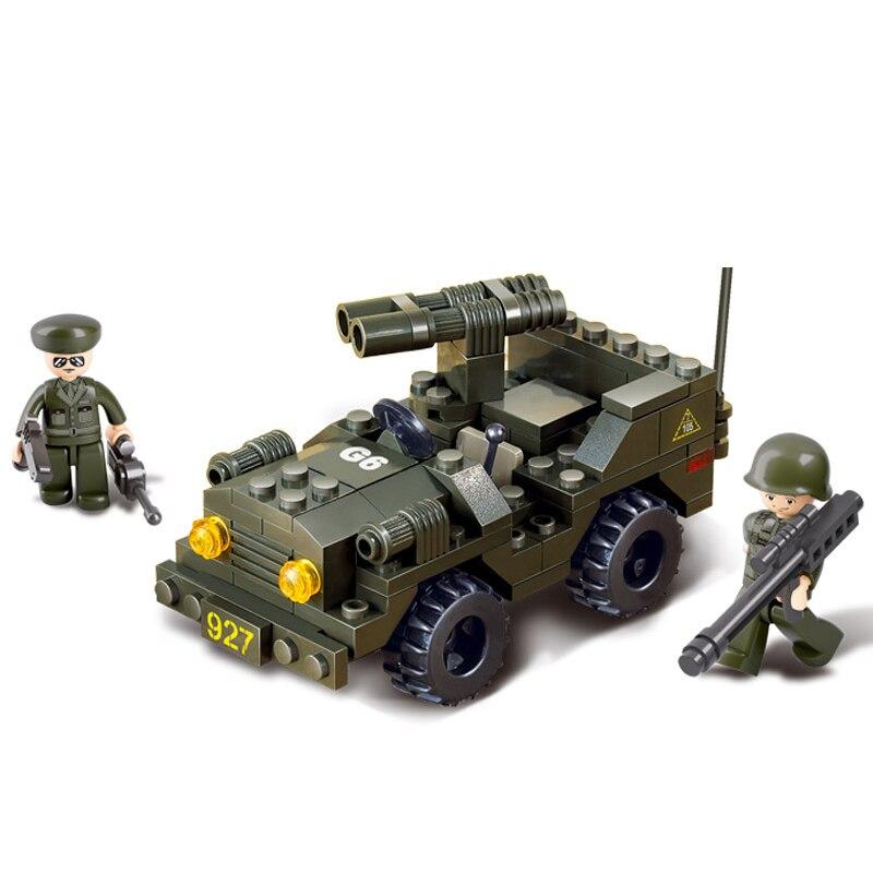 Sluban Model Building Compatible lego Lego B5800 102pcs Model Building Kits Classic Toys Hobbies Double Gun Chariot
