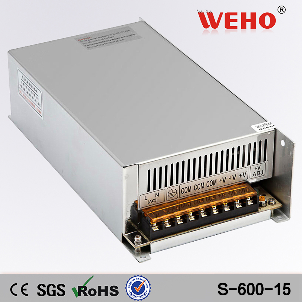 (S-600-15)Factory outlet CE RoHS approved 110/220VAC input 40A 15v 600w power supply цена и фото