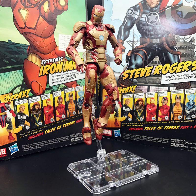 "Toy Biz Marvel Legends Iron Spider-Man Incomplete 6/"" Action Figure Loose"