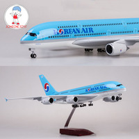 1/150 Korea Air Airplane Model Boeing 747 A380 Airliner Aircraft Model Diecast Collections With Wheels and Bases