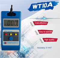 WT10A Magnetometer Surface Magnetic Field Tester Gaussmeter Gigital Gauss Meter Tesla 0~2000mT Fluxmeter Ns function With Probe